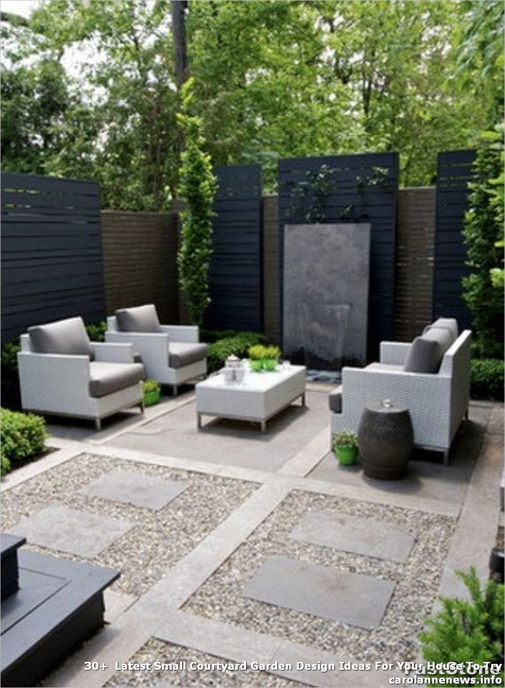 30 Latest Small Courtyard Garden Design Ideas For Your House To Try Backyard Seating Area Modern Backyard Landscaping Backyard Landscaping Designs New house backyard design