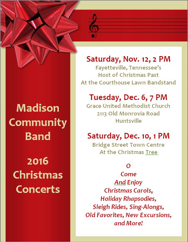Madison Community Band Christmas Concert Christmas