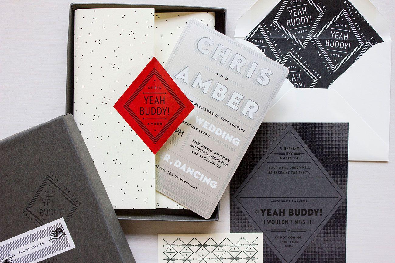 Amber + Chris | MaeMae & Co. | modern wedding | invitations & paper ...