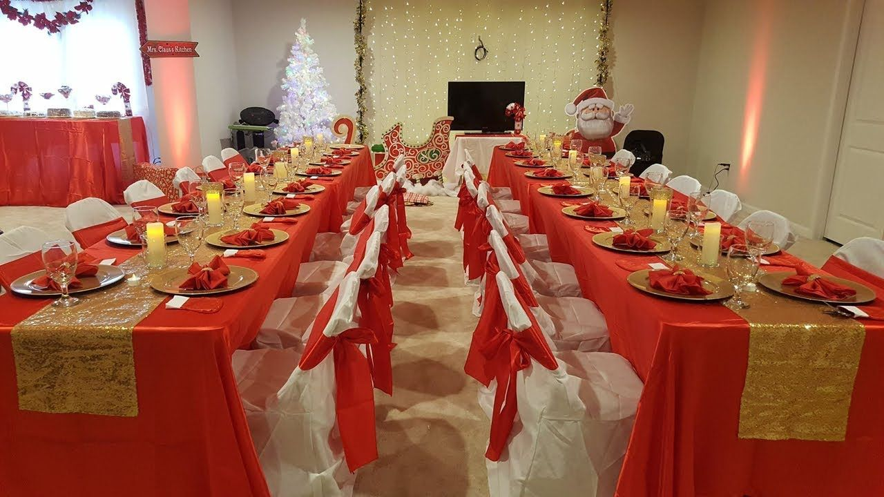 Diy Christmas Party Decorations Red And Gold Christmas Party Table S Christmas Party Table Gold Table Setting Gold Party Decorations