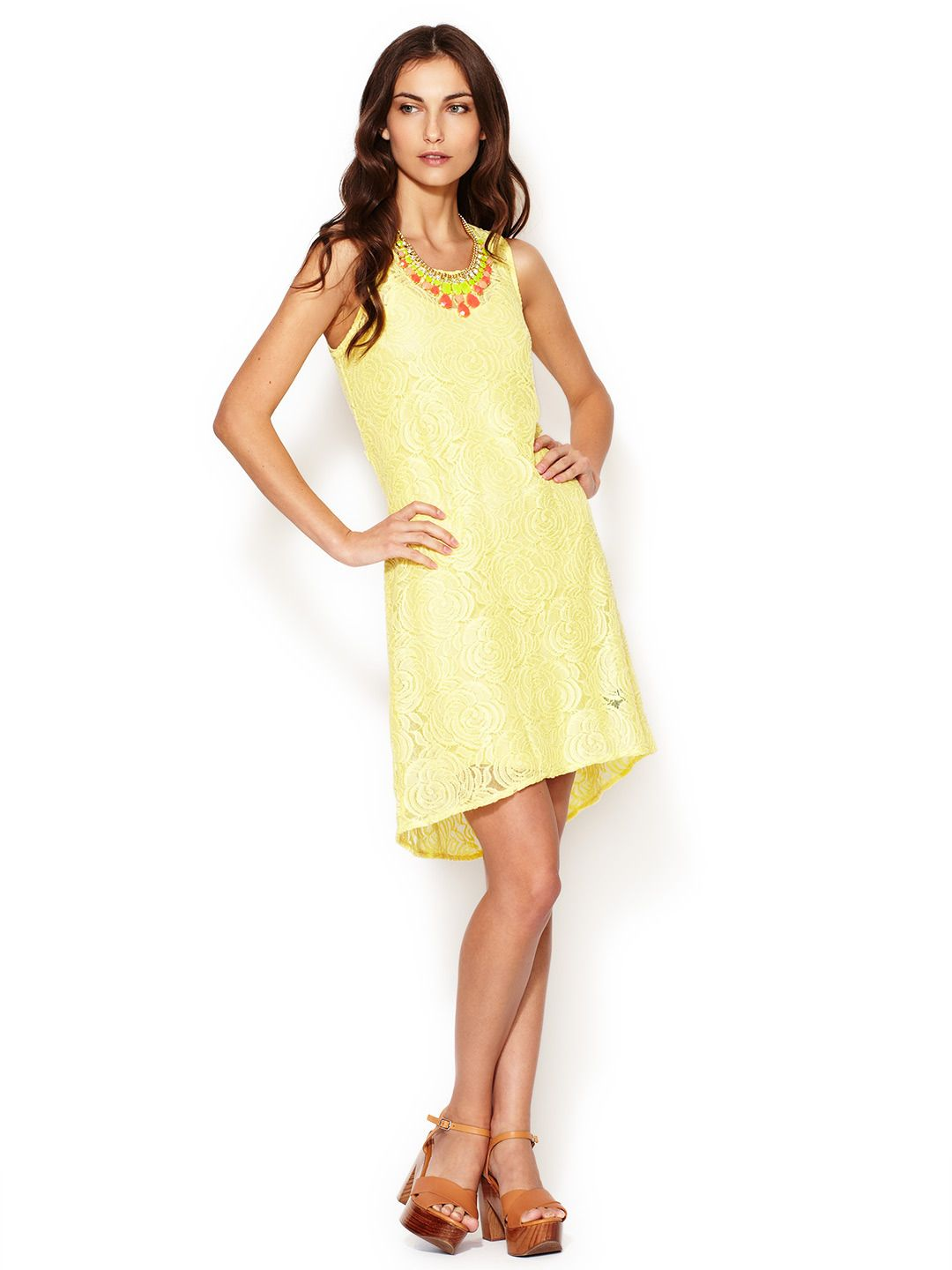 Embroidered lace belted dress by patterson j kincaid at gilt