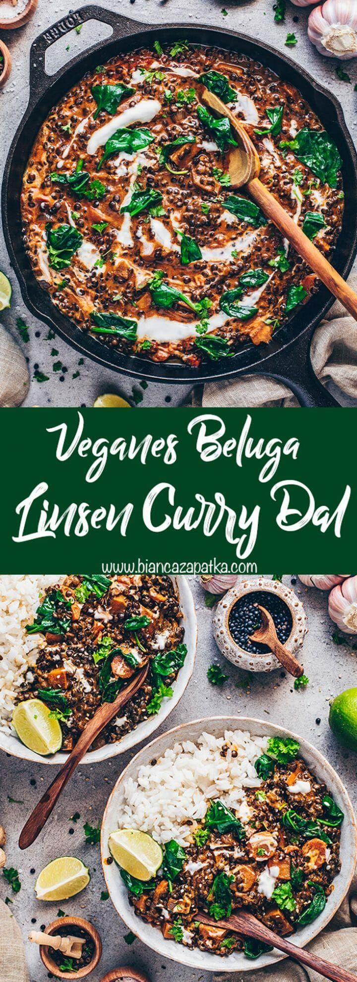 Beluga Linsen Curry | Indisches Dal Makhani (Vegan) - Bianca Zapatka | Rezepte