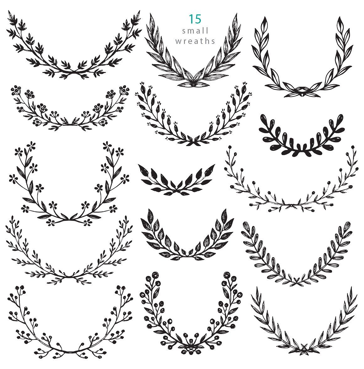 Branches, wreaths, wedding design