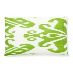 Ikat lime green pillow
