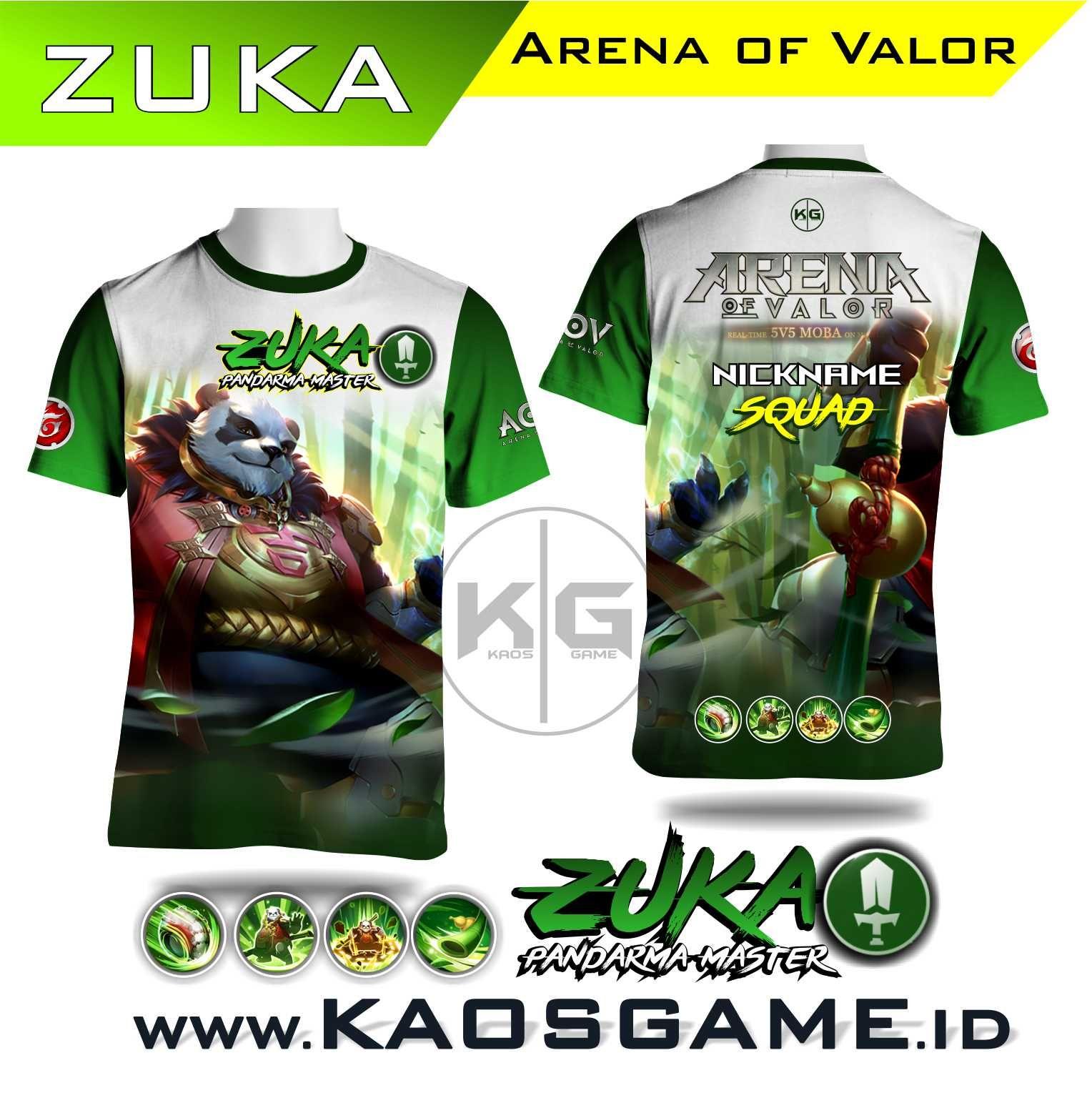 Kaos Zuka Pandharma Master Arena Of Valor Aov Sablon Full Print