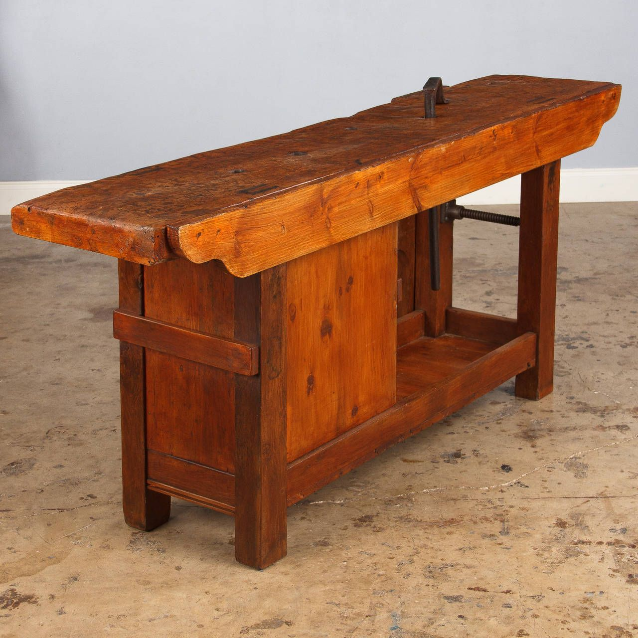 French Industrial Elm Carpenteru0027s Workbench, Dated 1906 | From A Unique  Collection Of Antique And Modern Industrial Furniture At ...