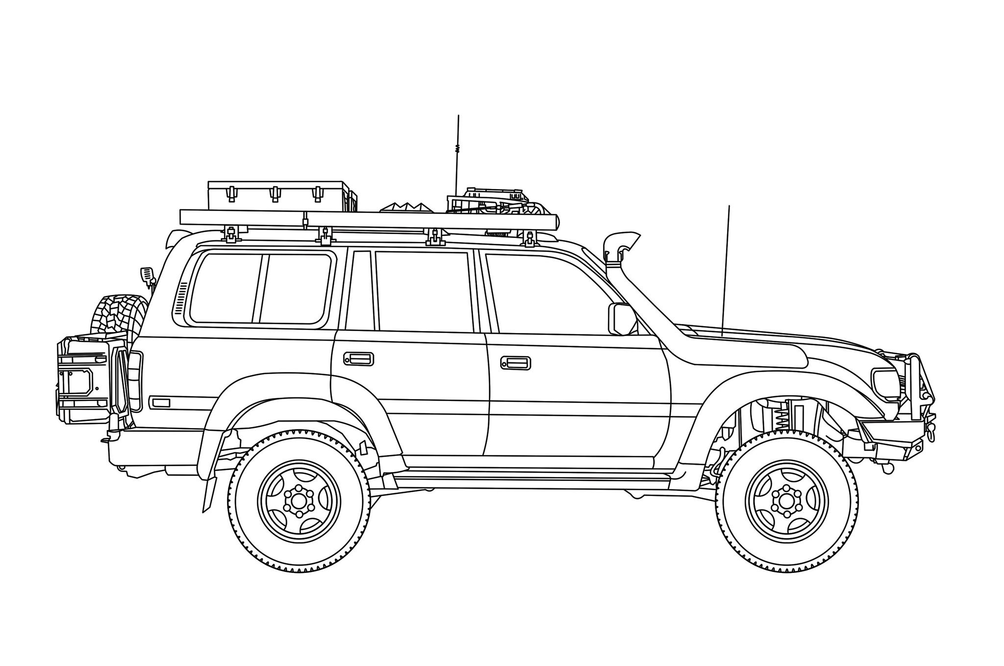 Toyota Land Cruiser Diagram Profile