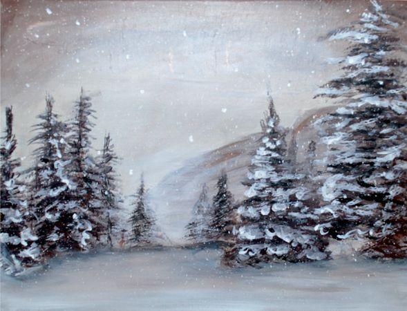 Calendar Diy Canvas Art Painting Winter Landscape Painting Winter Painting