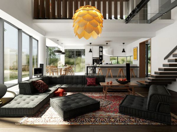 10 Modern Living Rooms With Nap Worthy Sofas Apartment Interior Design Living Room Designs Living Room Modern