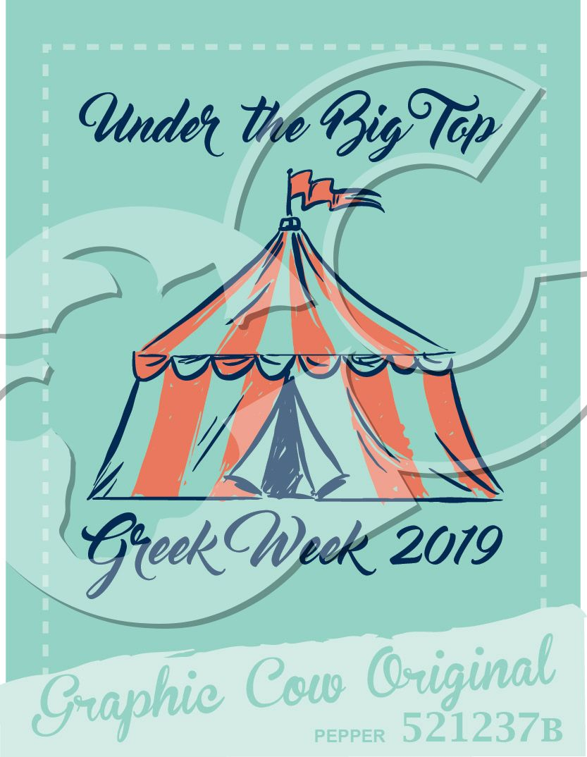 Under the big Top tent circus Greek week grafcow Greek