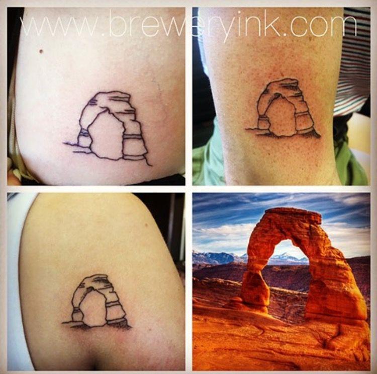 Delicate arch tattoo small wrist tattoos david tattoo