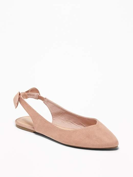 126439c444 Sueded Sling-Back Ballet Flats for Women in 2019