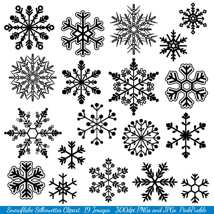 Snowflake Clipart Clip Art, Snowflake Silhouette Clip Art