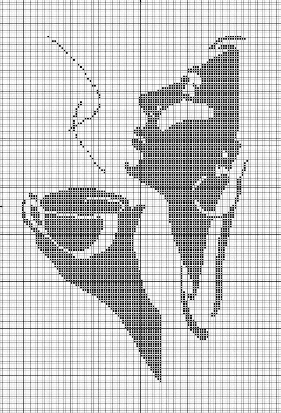 Схема вышивки девушка с чашкой