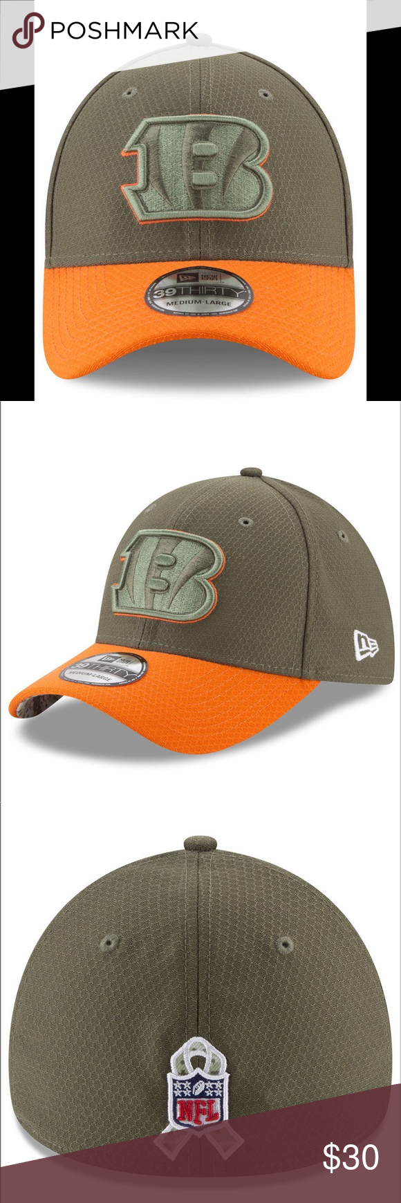 1bbac559 NFL Cincinnati Bengals Service Cap …39THIRTY New... Cincinnati Bengals  salute to service...39THIRTY Fitted Cap.. ***Please view pictures showing  the ...