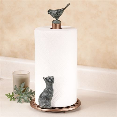 Unique Paper Towel Holders Inspiration Cat And Bird Metal Paper Towel Holder  Paper Towel Holders Towel Design Inspiration