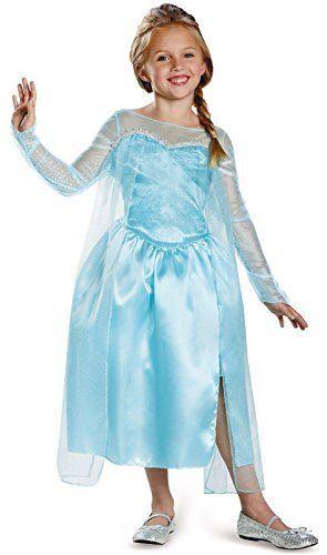 Disney\u0027s Frozen Elsa Snow Queen Gown Classic Girls Costume, Medium/7 - halloween girl costume ideas