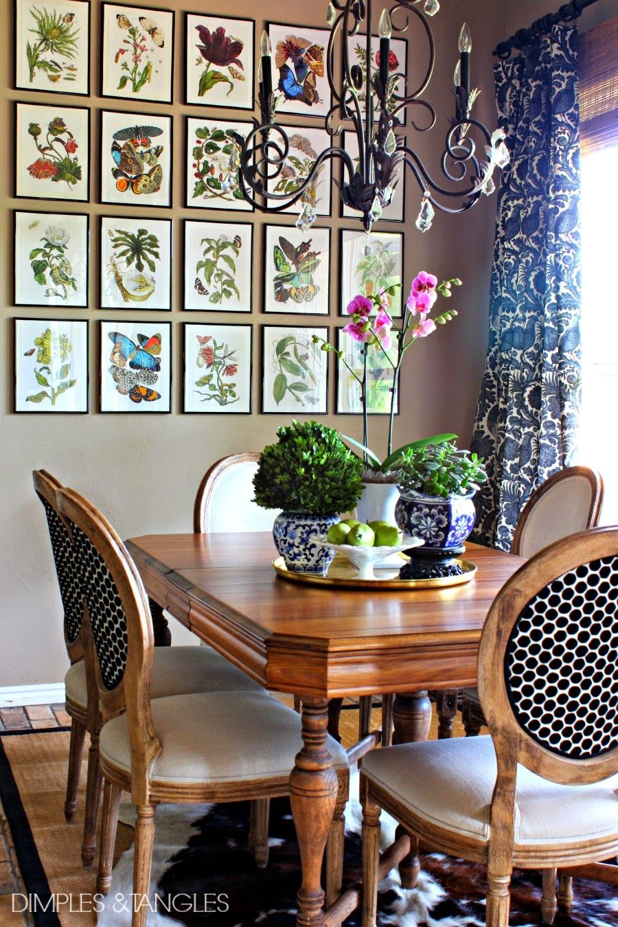Ballard botanical prints high low version diy for Dining room art ideas