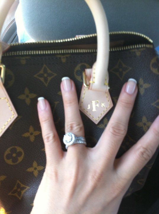 Monogrammed Louis Vuitton (my wedding day gift!)