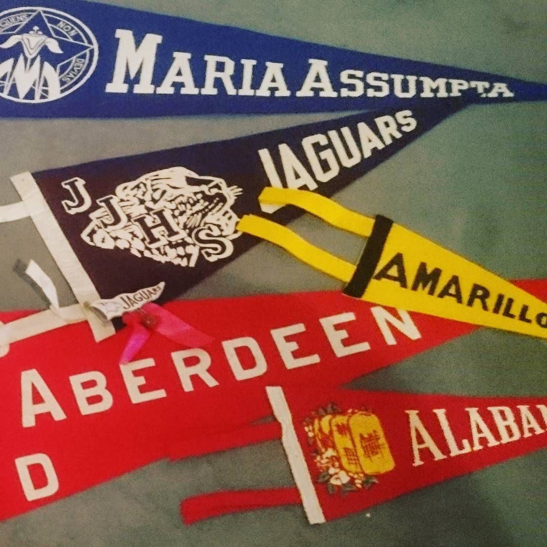 More pennants available these are brilliant as a decorative item  #vintagepennants #vintage #decorative #homedecor #americanfootball #americana #home #jaguars #Aberdeen #amarillo #newplymouth #vintagesports #sport by vintagesouthsea