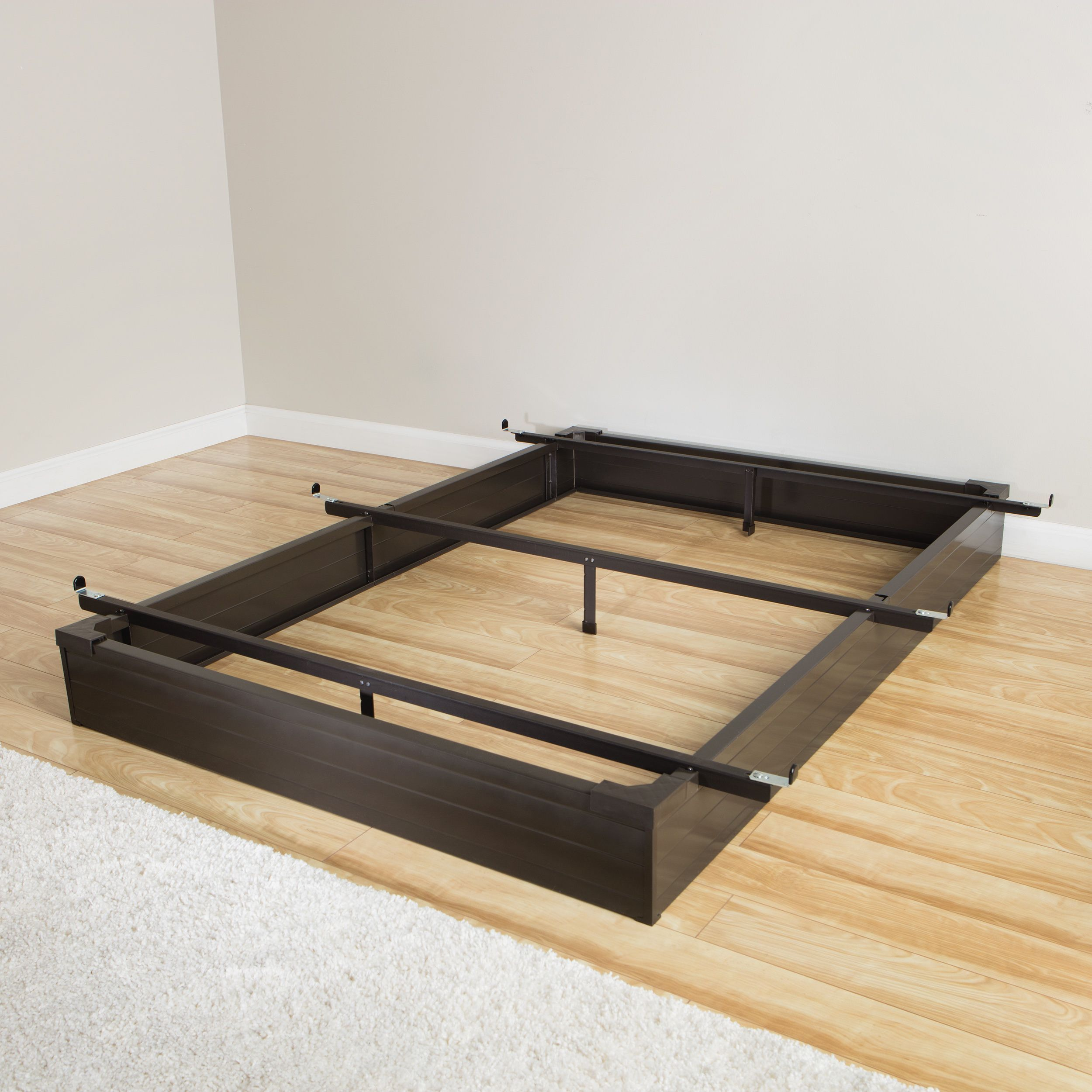 rize Mantua Java Brown Twin-Size Metal Bed Base (Twin Metal Bed Base ...