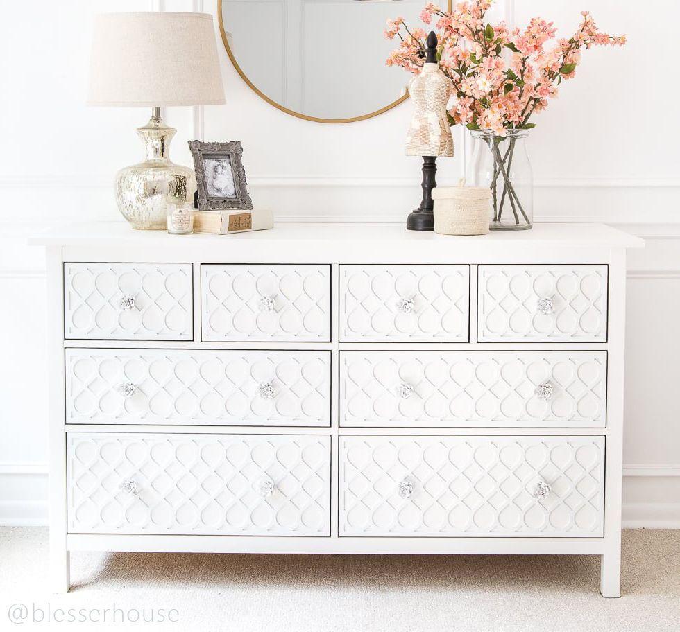 O Verlays Fiona Kit For Ikea Hemnes 8 Drawer Dresser Ikea Dresser Makeover Ikea Hemnes Dresser Decor