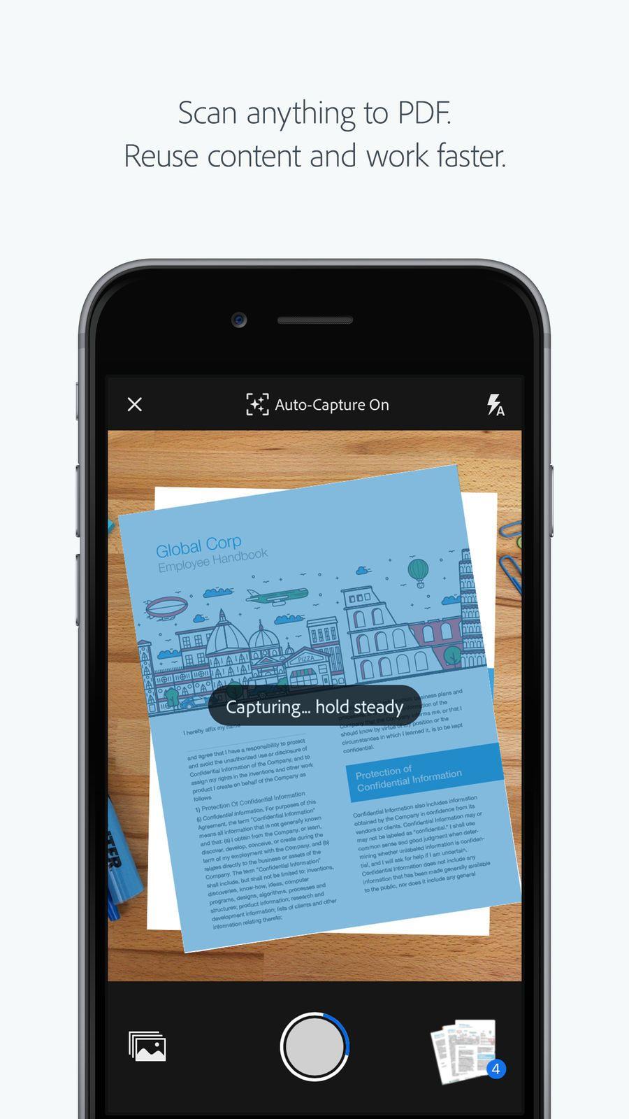 Adobe Scan iosappsappProductivity Employee handbook