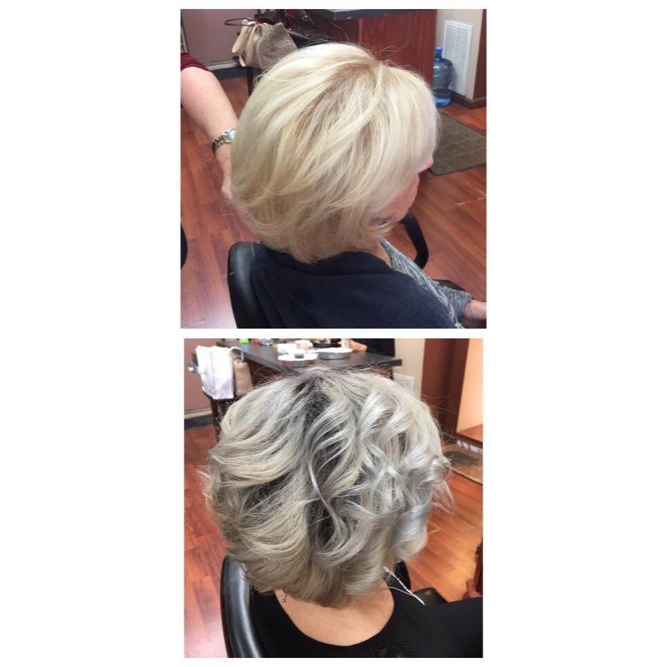 Platinum blonde to gray hair by Teresa!