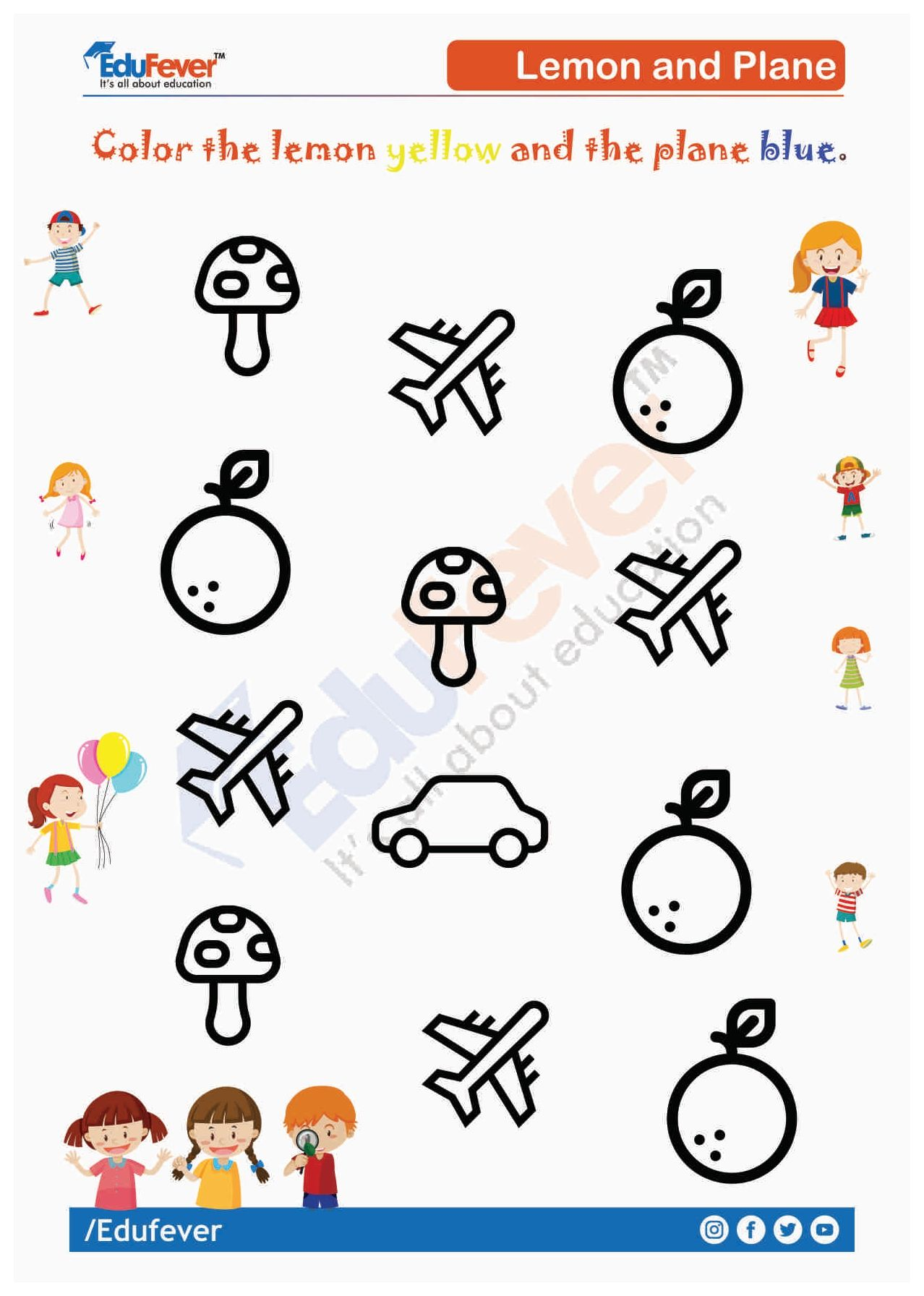 Colour Objects Ukg Worksheet Color Worksheets Mathematics Worksheets Preschool Learning