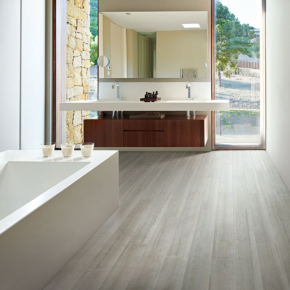 Contemporary Kitchen Flooring: Haven Porcelain Tile Is A Minimalist, Modern Marble Look
