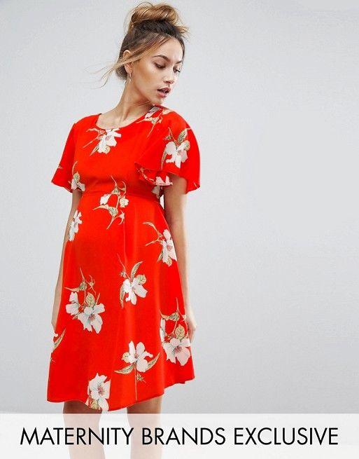 1503a72398541 Discover Fashion Online Floral Tea Dress, Asos Maternity Dresses, Maternity  Fashion, Maternity Clothing