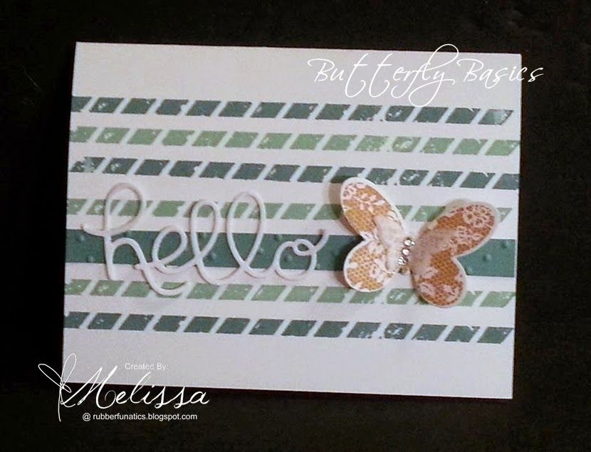 by Melissa: Butterfly Basics, Hello You framelits, Butterflies Thinlits, & more - all from Stampin' Up!