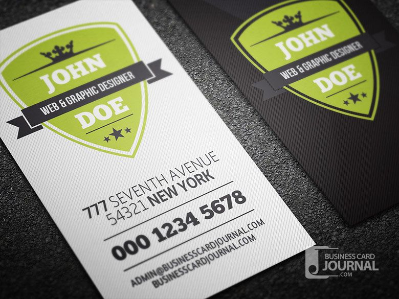 Free Modern Retro Vertical Business Card Template » Business Card ...