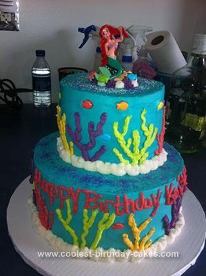 Coolest Little Mermaid Birthday Cake Mermaid cakes Mermaid and