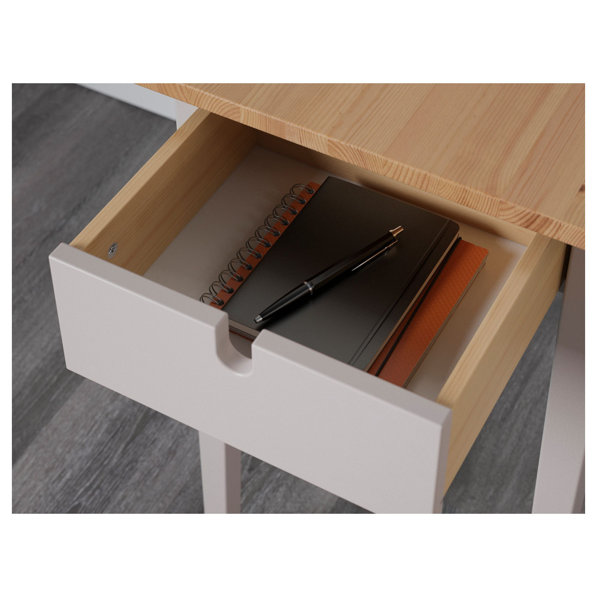 ikea norra sen laptop table solid wood is a durable natural
