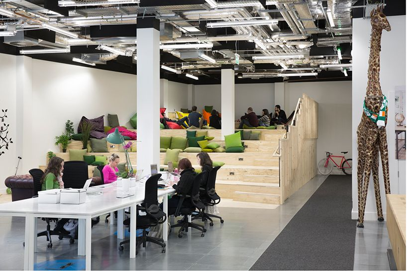 heneghan peng create open collaborative spaces for airbnb dublin office