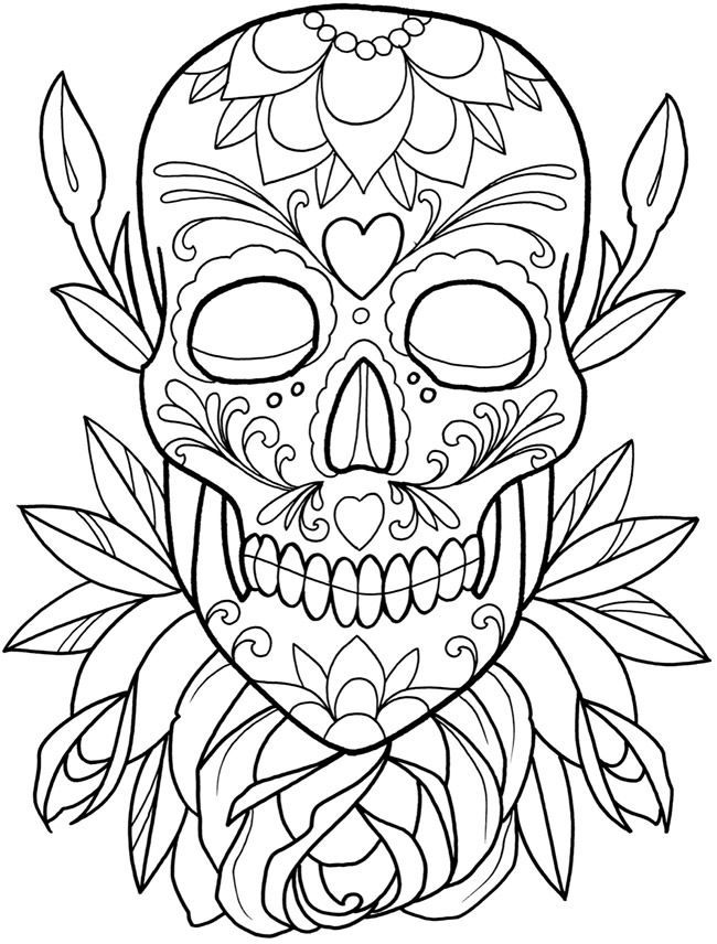 Dia Los Muertos Coloring Sheets Yahoo Image Search Results Happy