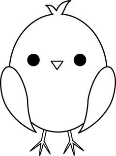 Cute Colorable Baby Chick  Hobi  Pinterest  Baby chicks