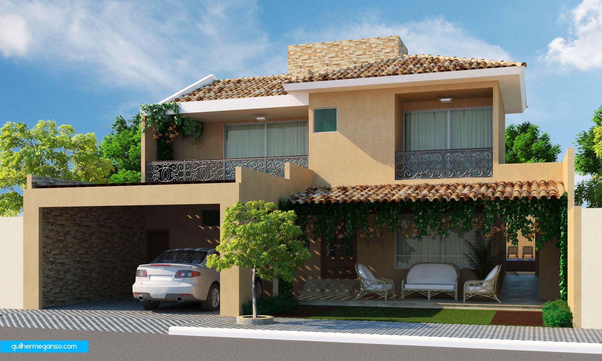 Maquete fachada 3d apartamento predio casa 62 for Revestimiento fachadas exteriores