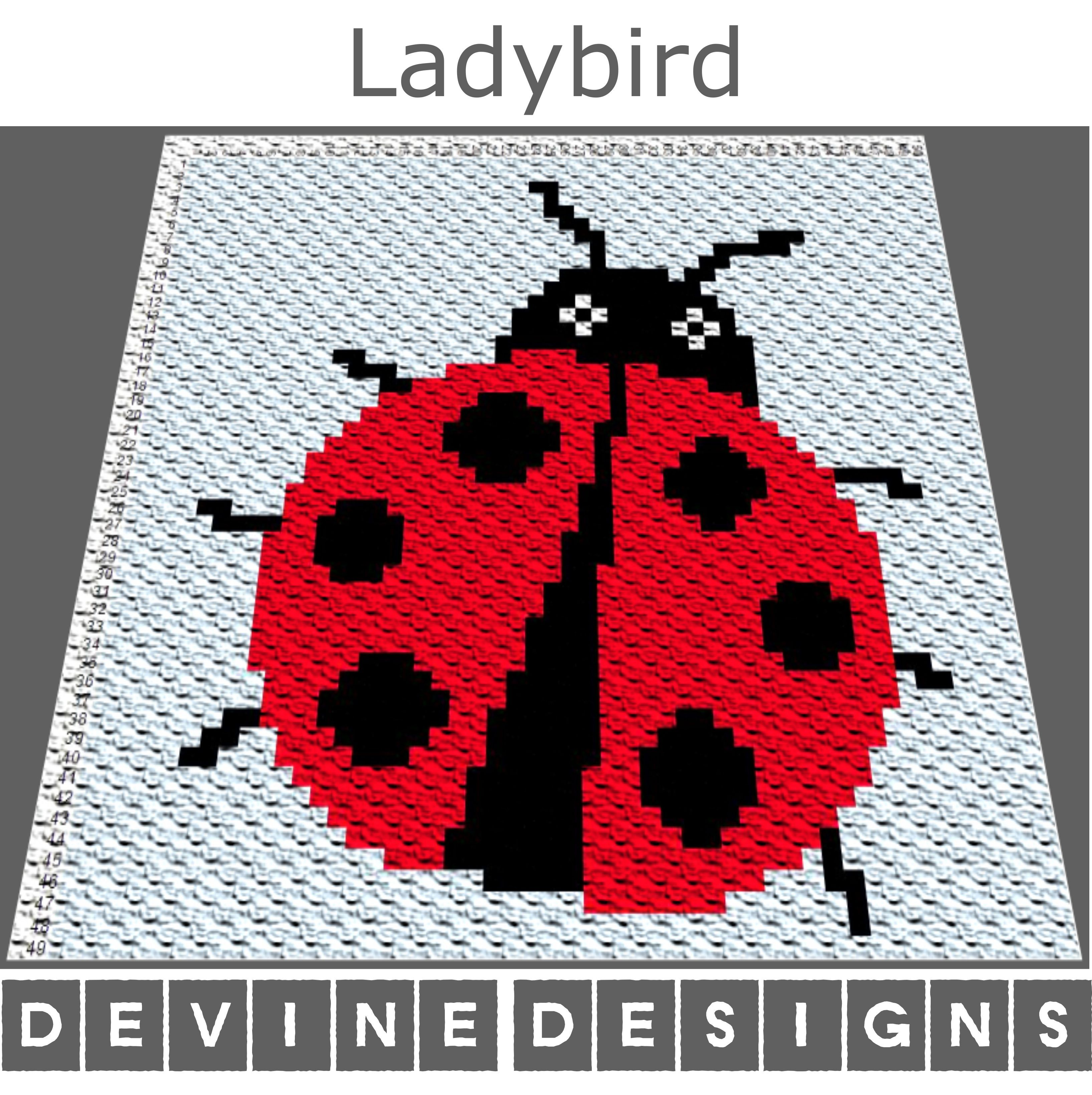 C2C Baby Blanket Pattern / Corner to Corner / Ladybird Graph / C2C Graph / Baby Graphgan /  #c2cbabyblanket