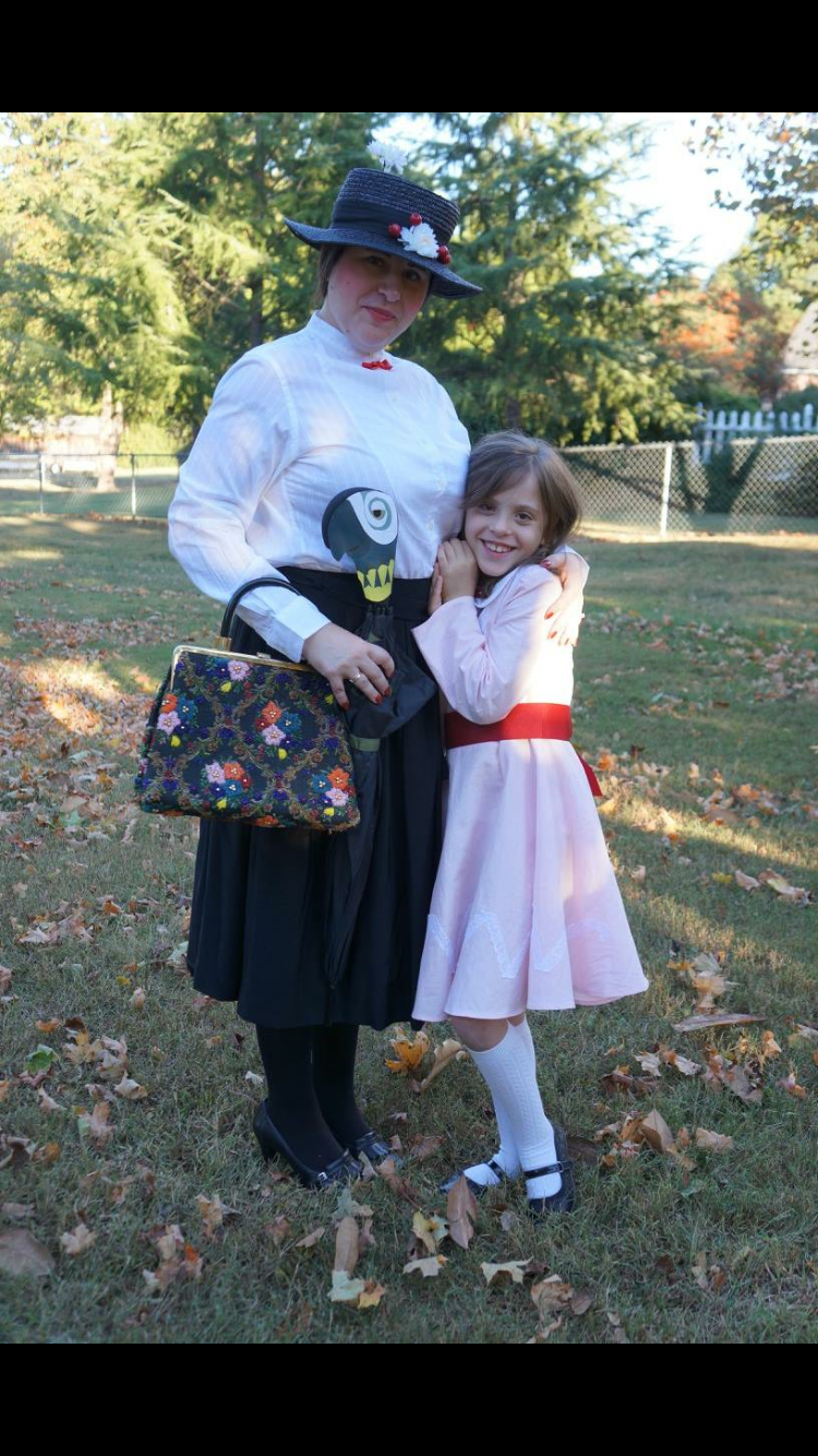 our version of mary poppins and jane banks! my favorite halloween