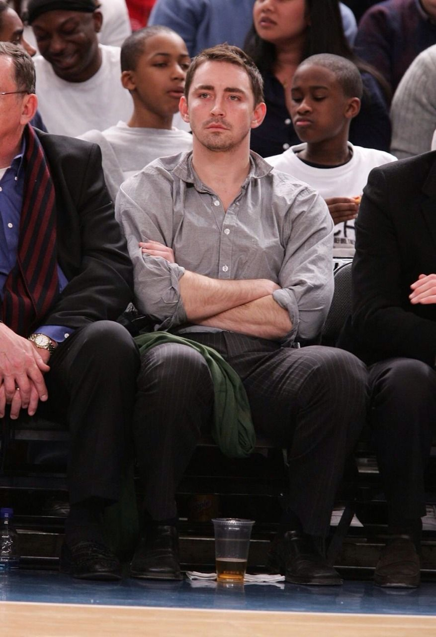 Milwaukee Bucks vs New York Knicks Game. He's clearly not amused