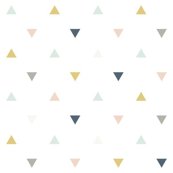 Triangles Wallpaper Pink Kids Room Wallpaper Kids