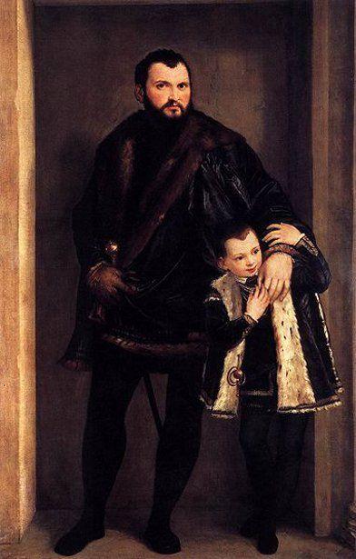 Iseppo And Adriano da Porto by Paolo Caliari il Veronese