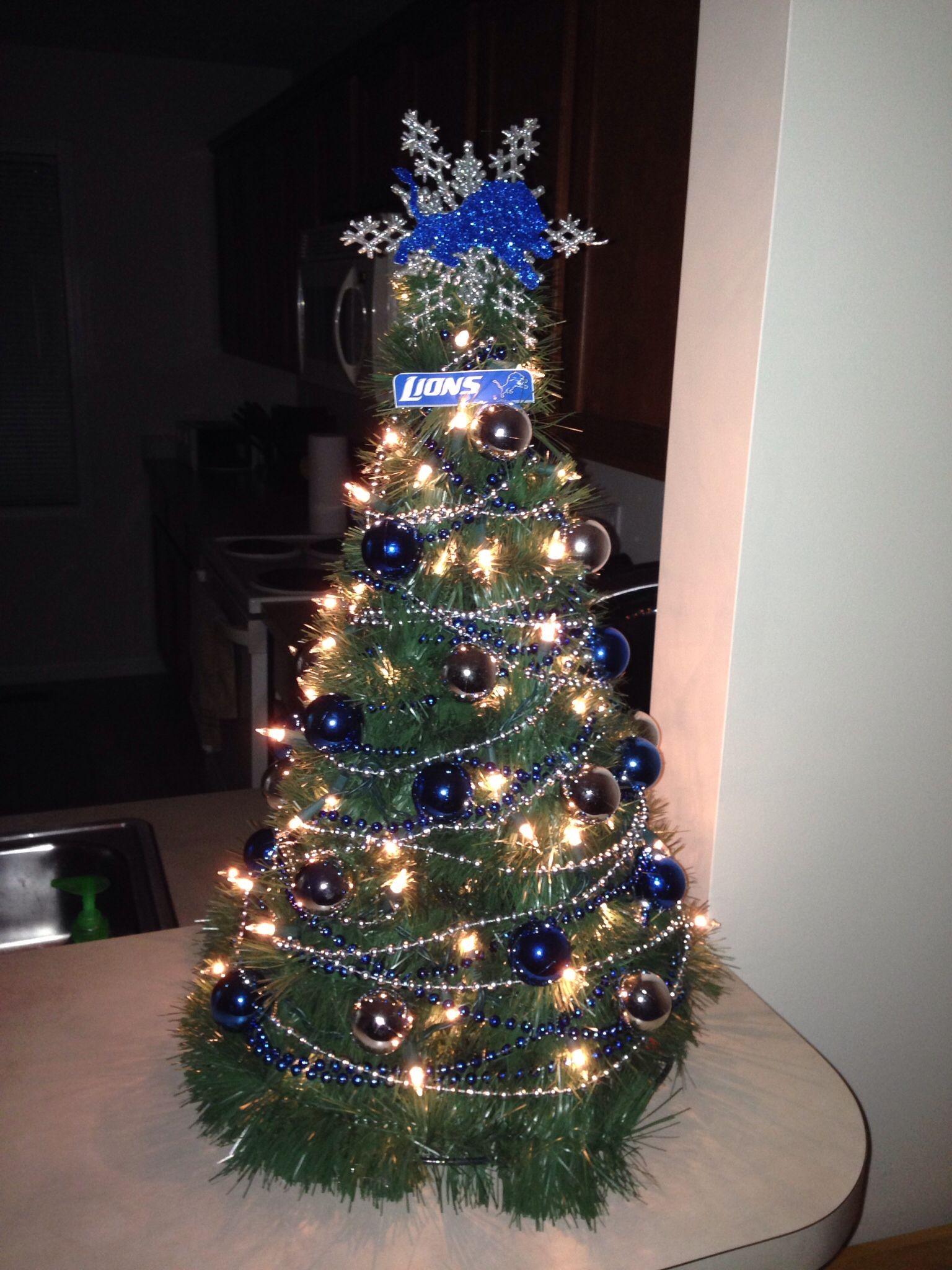 fe634db6 Detroit Lions Christmas Tree!! | Detroit Lions Christmas | Detroit ...