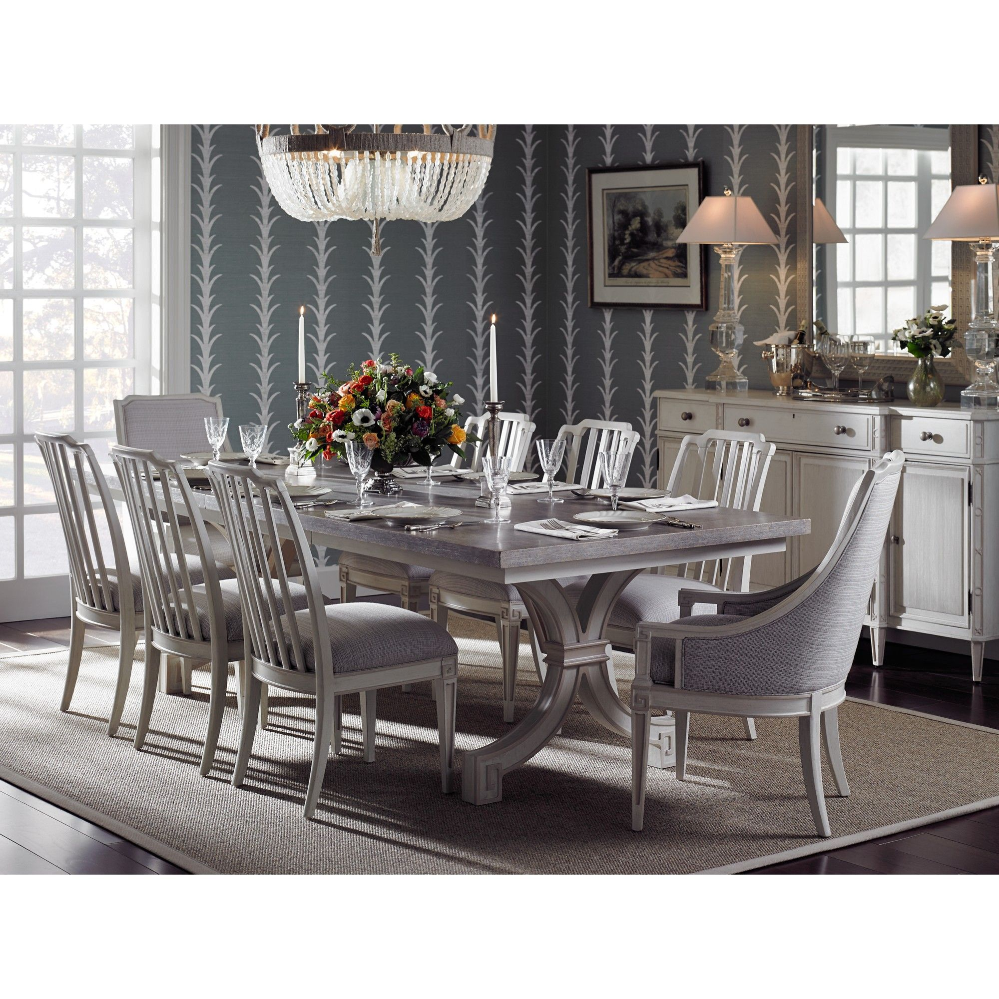 Stanley Preserve 9pc St Helena Trestle Dining Room Set And
