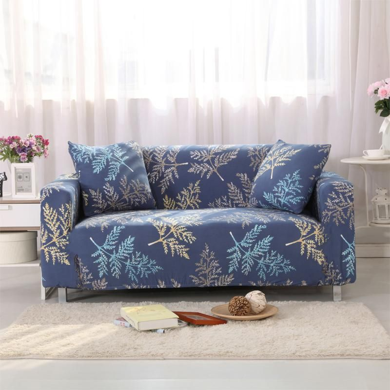 Sectional Slipcovers Sofa Covers High Elastic Polyester Spandex Cactus Printed Protector Pattern V20