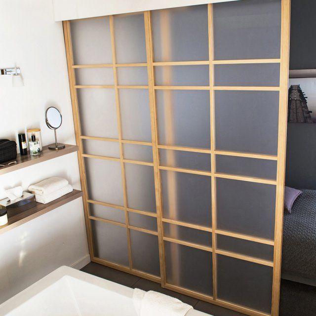 une cloison amovible style japonisant castorama. Black Bedroom Furniture Sets. Home Design Ideas