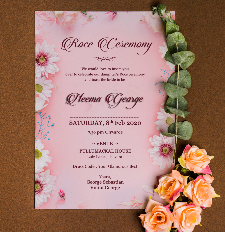 Roce Ceremony Invitation Card Design Invitation Card Design Invitations Invitation Cards