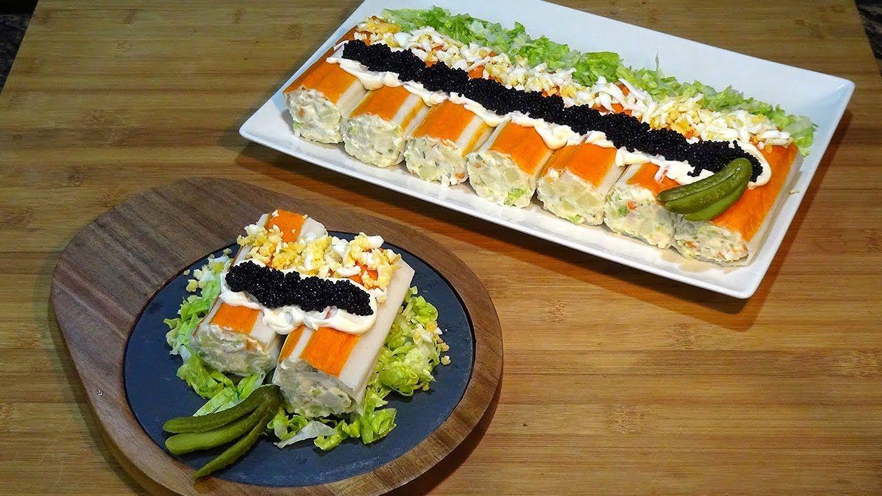 Receta Rollitos de cangrejo - Recetas de cocina, paso a paso, tutorial